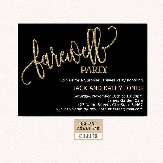 Farewell Invitation Download Farewell Invitation Template Black