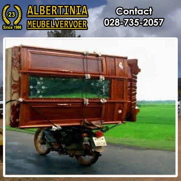 What is the funniest thing you have seen transported on the roads? Albertinia Meubelvervoer would like you to share your experience with us. #moving #funny