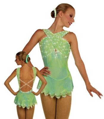Figure Skating Dress...inspiration for Tinkerbell showcase dress