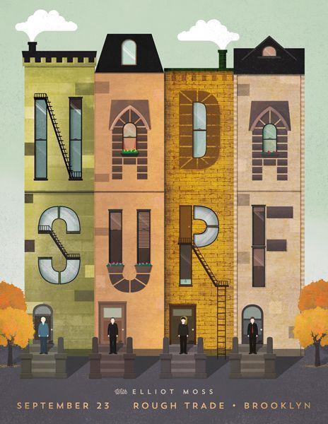 Nada Surf gig poster by Nicole Anguish