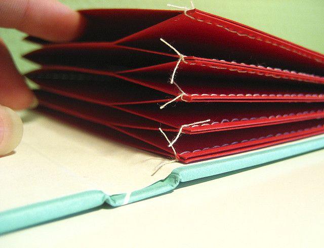 Sewn square memo pocket book