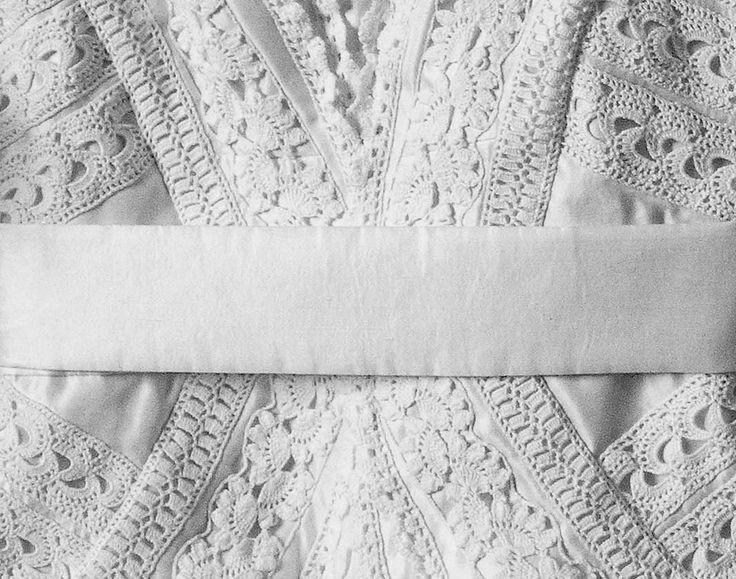 A detail form a custom made wedding dress.