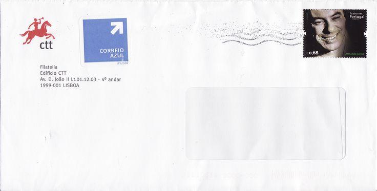 Sobrescrito com selo sobre o ator Armando Cortez colocado em circulação a 14/09/2011