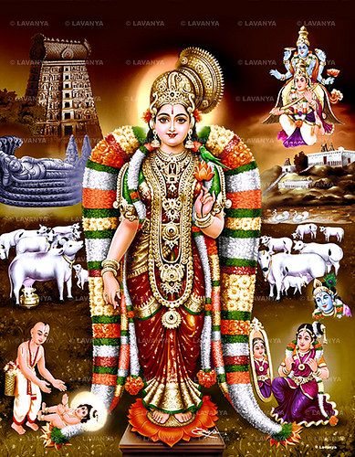 """#Andal Goda Devi - The remarkable Lady who would marry none but the Lord.  she is known in her native tongue of Tamil as an #Alvar, one who is """"immersed"""" in the depths of enjoyment of God. she is the only female #Alvar among the 12 Alvars. she is known for her unwavering devotion to #Vishnu, the God of the #Srivaishnavas.   #Srivilliputhoor #Temple is dedicated to her, marking her birthplace.  Contact us for devotional Pictures at Email : lavanyapictures@gmail.com Ph & whatsapp : +91…"""