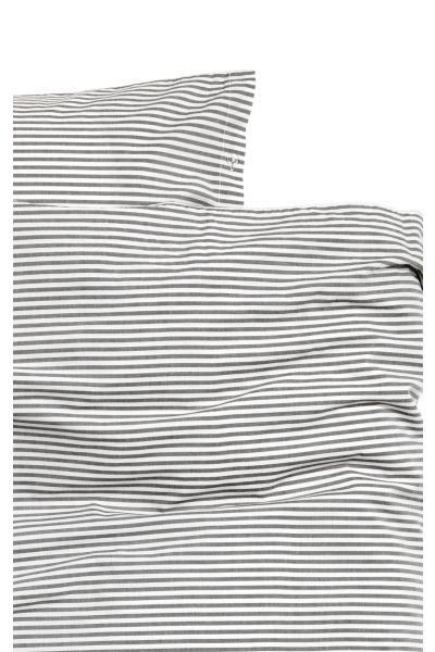 Komplet pościeli w paski - Biały/Antracytowoszary - HOME | H&M PL 3