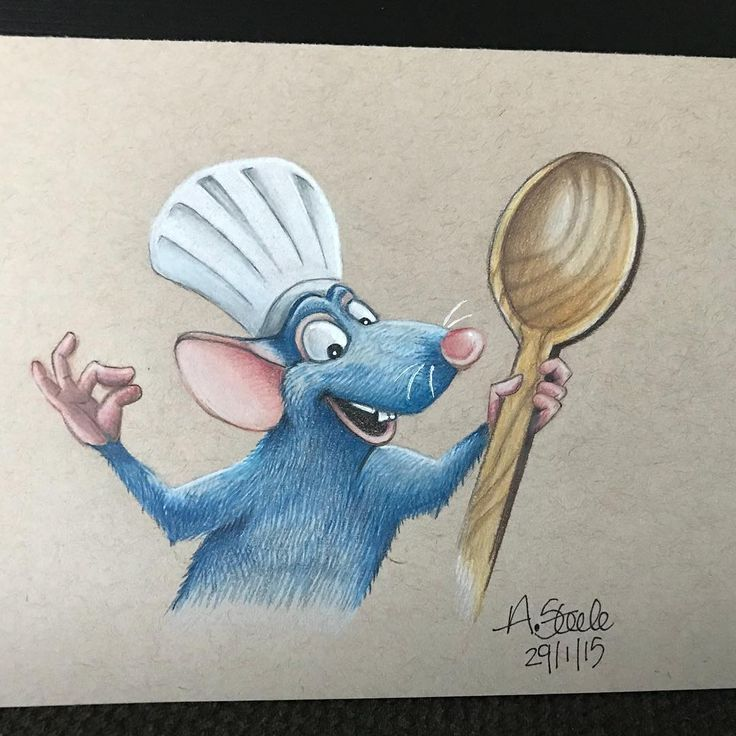 Remy Colored Pencil Drawing Disney Fanart Disneyfanart Disney Art Drawings Drawing Cartoon Characters Cute Drawings