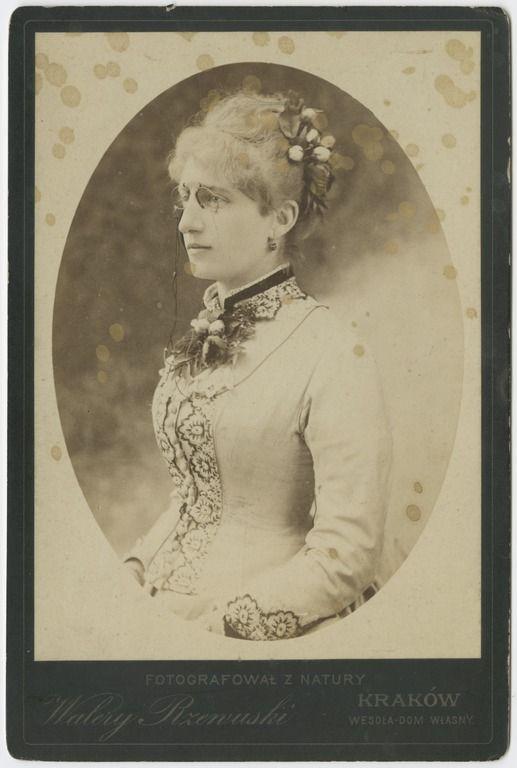 Walery Rzewuski, Portret młodej kobiety z kwiatami we włosach