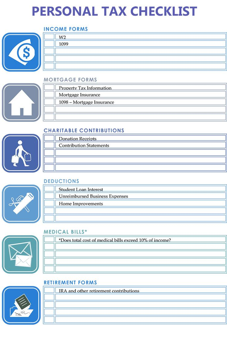 best images about printable business forms lawn printable personal tax checklist