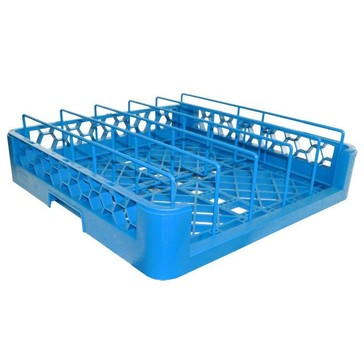 2.5 in. Dishwasher Rack for Pans or Insulated Meal Trays in Blue (Case of 3)