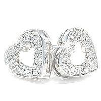 Hjerteøredobber 0,20 carat | Dolce - Dolce hjerteøredobber