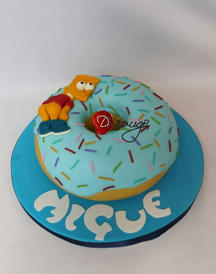 Torta Donut Bart Simpson