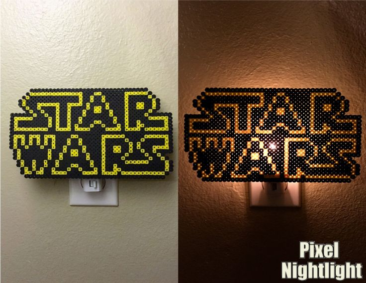 Star Wars Fan Inspired Nightlight Perler Beads by PixelNightlight