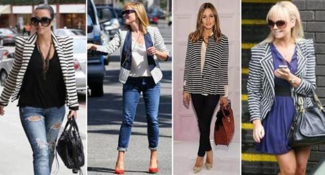 Пиджак в полоску женский классический, с чем носить ? 2017