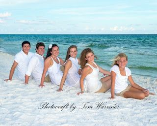 Photocraft by Tom Warriner: Professional family beach portraits on Florida's Emerald Coast
