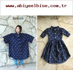 Schau dir an, wie du dieses Herren-XL-Shirt in ein Mädchenkleid verwandeln kannst! #DIY-Shop bei …