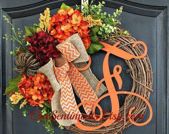 Fall Decor Wreath Door Wreath Halloween decor by OurSentiments