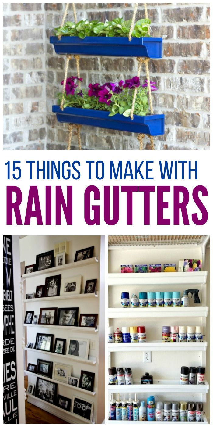 They're so handy for organizing and creating additional storage around the house that you'll look for more ways to use them. Need inspiration? Here are 15 rain gutter ideas you'll love implementing in your home.