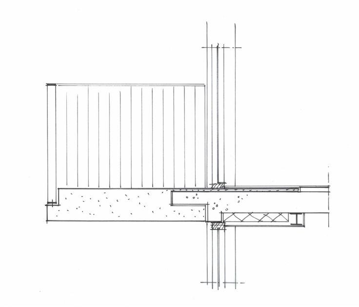 Schets van het composiet balkon die het oude kleine balkon thermisch inpakt