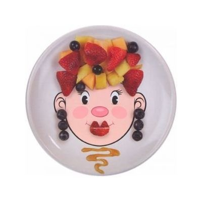 Ms. Food Face Kid's Dinner Plate