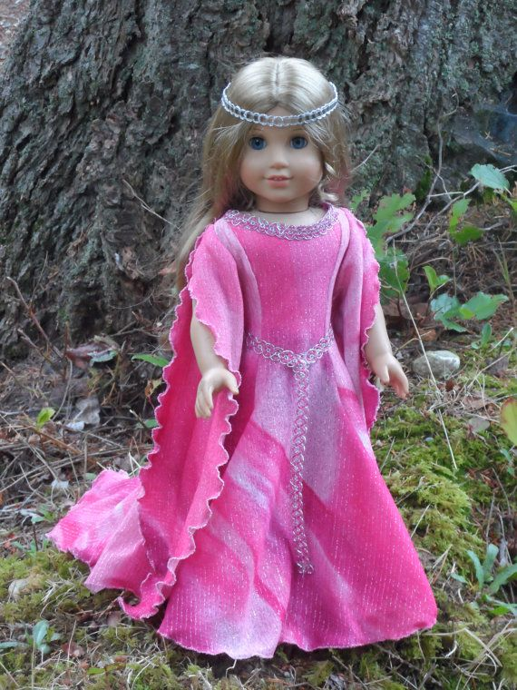 Fantasy Gown for your American Girl by CarmelinaCreations on Etsy