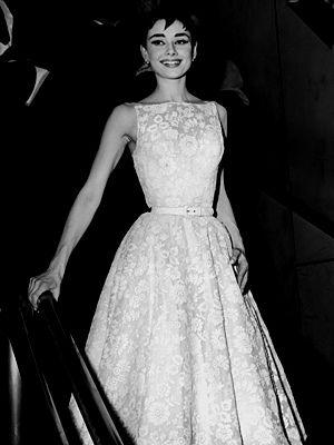 Audrey Hepburn when she won her Oscar for Roman Holiday.  Simple. Elegant. Stunning.