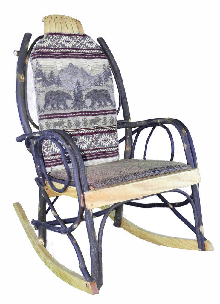 Amish Bentwood Rocker Cushion Set Bear Mountain Fabric
