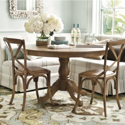 Looking forward to getting my Rudolph Pedestal Table in black to go with the Coventry corner nook couch!  (For the kitchen)  Comfy cozy space for my hubs to hang out in while I cook or whatnot!  :)