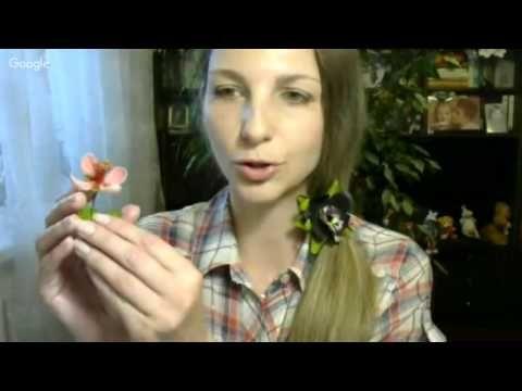 6 - Шедевры из ГиФ (05.2016) - Татьяна Книзелене - Брошь с экзотическим цветком фейхоа - YouTube