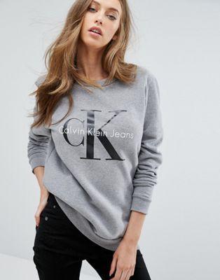 PINTEREST: @MUSKAZJAHAN - Calvin Klein Jeans Logo Sweatshirt