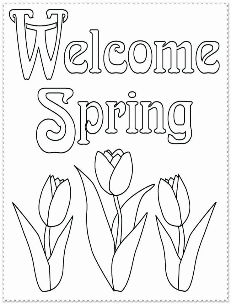 welcome spring coloring pages beautiful wel e spring
