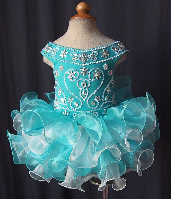 2015 Newest Lovely Kids Pageant Dresses Little Girls Cupcake Dress Organza Cap Sleeve Beaded Sequins Ruffles Flower Girls Dresses