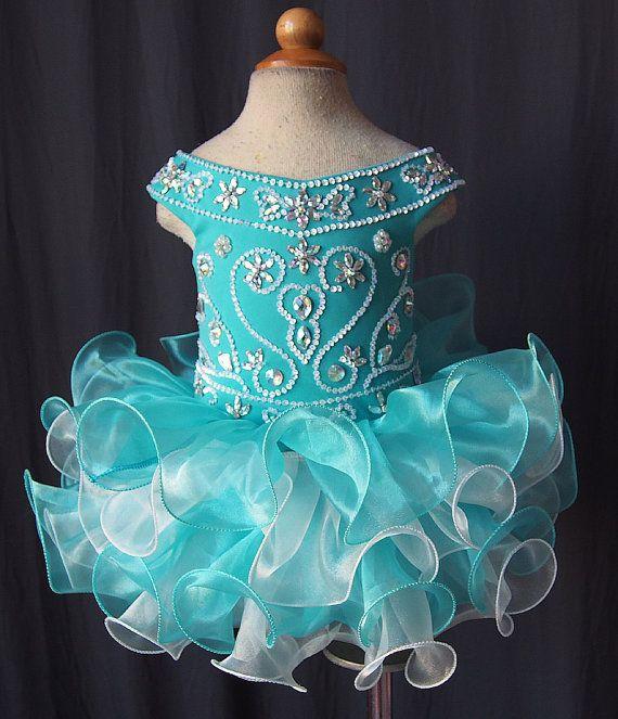 2015 Newest Lovely Kids Pageant Dresses Little Girls Cupcake Dress Organza Cap Sleeve Beaded Sequins Ruffles Flower Girls Dresses