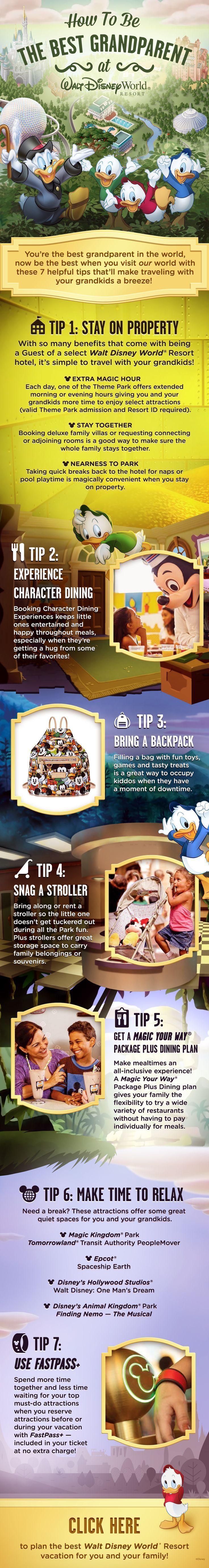 Traveling with your Grandkids on a Walt Disney World vacation? Here's a few tips on how to get the most out of your family trip, from Walt Disney World Resort Hotel stays to FastPass Plus reservations! | Disney Tips and Tricks | Disney Tips | Disney World Tips | Disney World Tips & Tricks | Disney World Planning | Disney World Planning Tips | Disney Travel Ideas | Disney Travel Tips |