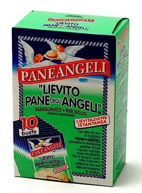 Paneangeli Lievito Pane Degli Angeli - (or bread of the angels), a white powder that is a mixture of baking soda with vanilla flavorings and is used to create a number of traditional Italian desserts like panetone, tortes, and biscotti. You can find this product at Italian markets or order it online from Amazon.