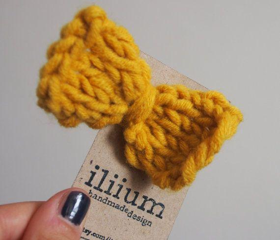 fiocco giallo per capelli di iliium su Etsy