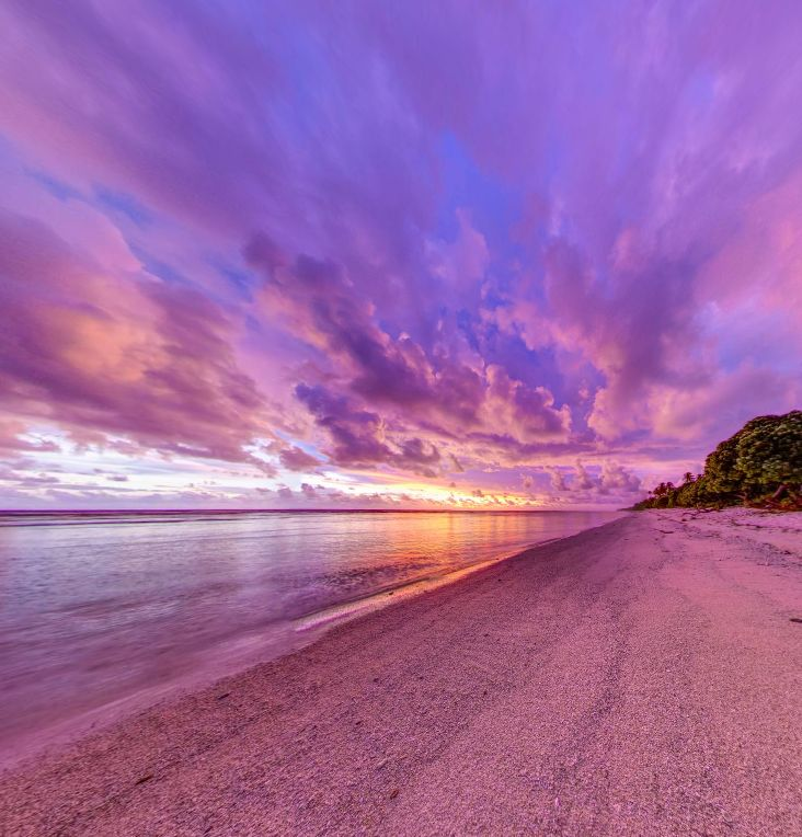 Sunrise on Abaiang atoll in Kiribati (Pacific Ocean Islands) by Nick Hobgood https://www.360cities.net/image/sunrise-on-abaiang-atoll-in-kiribati-pacific-ocean-islands