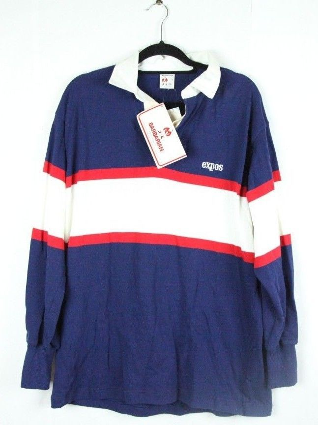 Shirt Barbarian With Vintage Rugby Canada Tags Expos L Polo Montreal v08mnwN