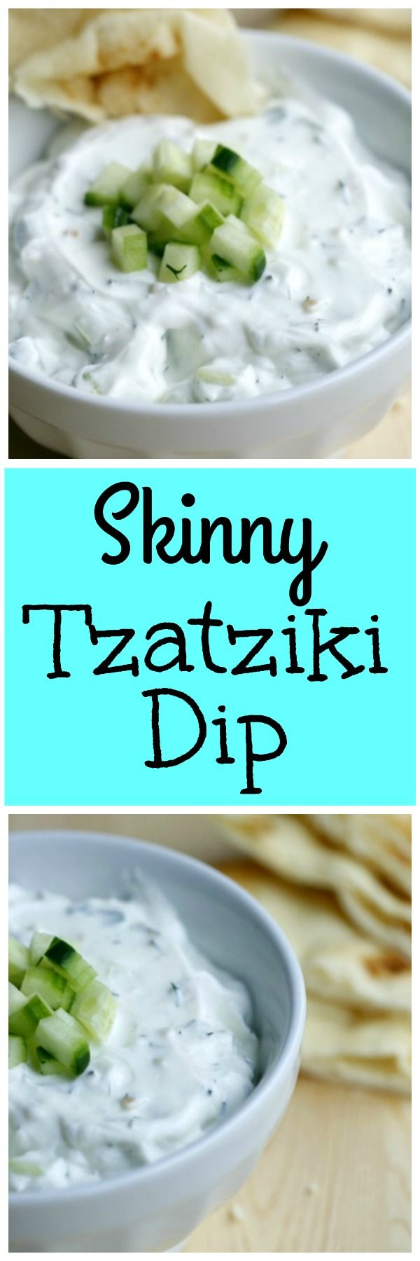 Skinny Tzatziki Dip. A fat free dip that's so creamy and delicious. 21 Day Fix approved.