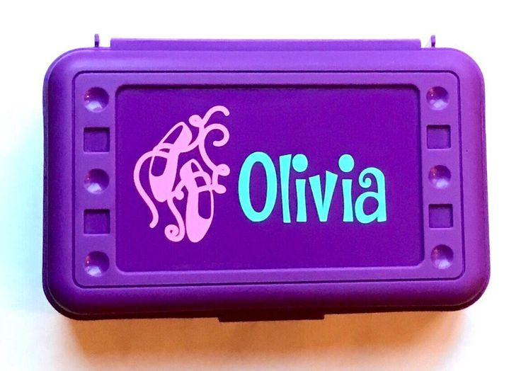 Personalized Ballet Slippers/Shoes pencil box for your Little Ballerina - A personal favorite from my Etsy shop https://www.etsy.com/listing/538121747/personalized-pencil-boxes-ballet-shoes