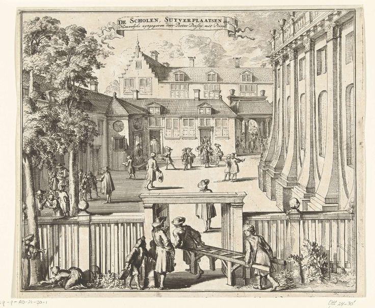 De scholen en reinigingsplaatsen bij de Nieuwe Portugese Synagoge te Amsterdam, 1675, Romeyn de Hooghe, 1675