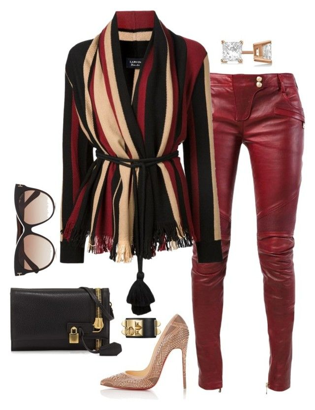 """""""Style"""" by fashionkill21 ❤ liked on Polyvore featuring Balmain, Lanvin, Christian Louboutin, Tom Ford and Allurez"""