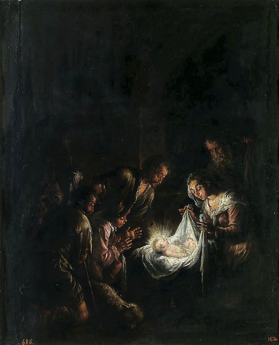 Adoration Of The Shepherds  Jacopo Bassano