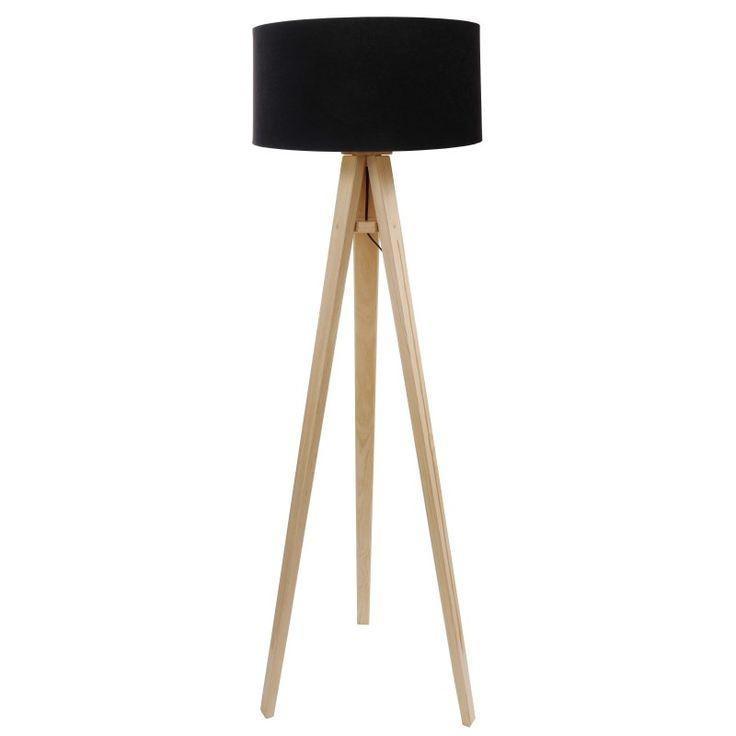 Lampa podłogowa Trójnóg Luna Czarna - DOM.PL – Lampy, Oświetlenie do Twojego domu