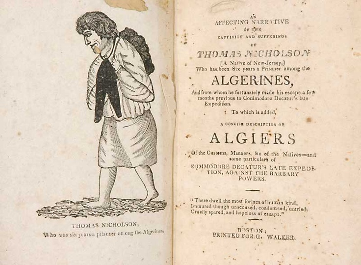 The narrative of Thomas Nicholson, enslaved in northern Africa