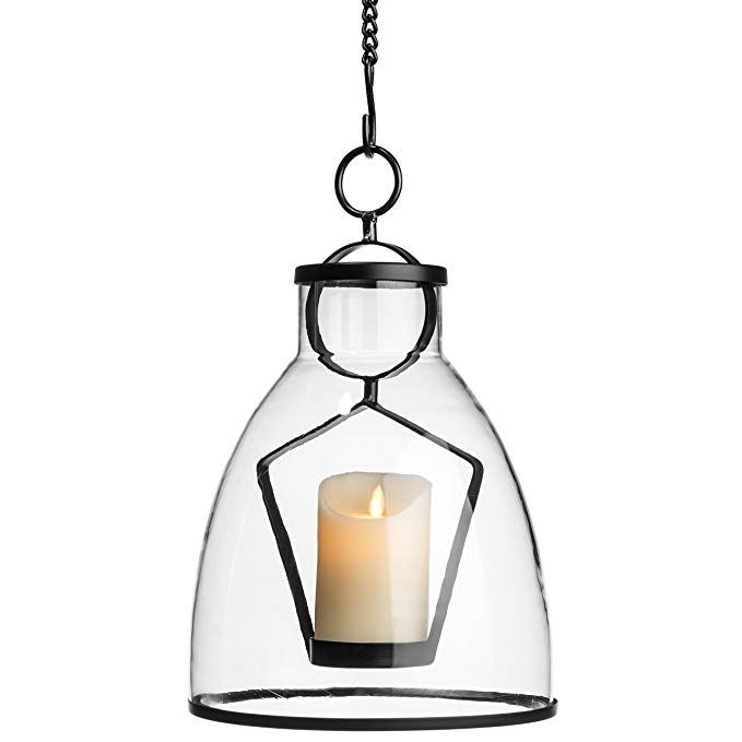 H Potter Hanging Candle Holder Lantern Deck Patio Hanging Candle Holder Lantern Candle Holders Glass Candle Lantern
