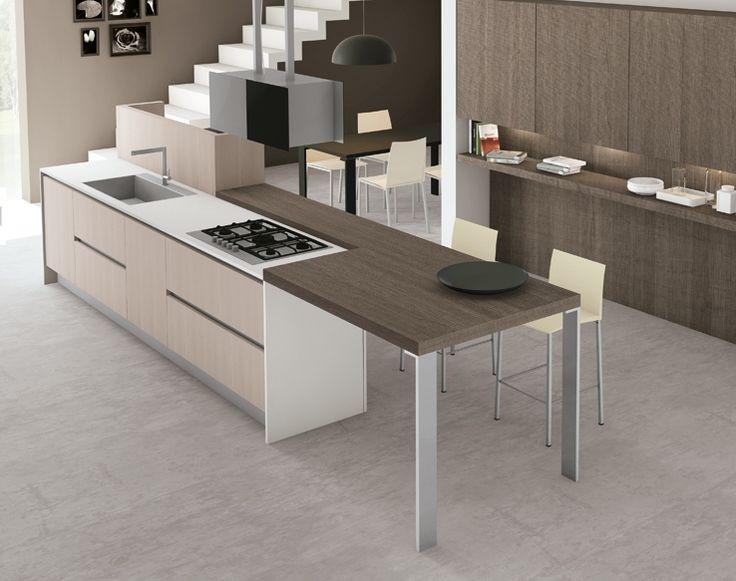 Best 25 cocinas integrales minimalistas ideas on - Cocinas con islas modernas ...