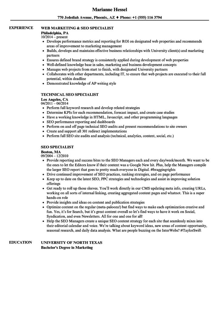 Seo Analyst Resume Sample in 2020 Sample resume