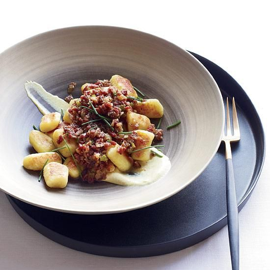 Potato Gnocchi with Pastrami Ragù | Rich Torrisi and Mario Carbone put a clever twist on their gnocchi recipe by using deli pastrami in the sauce. Feel free to use it on any kind of pasta.