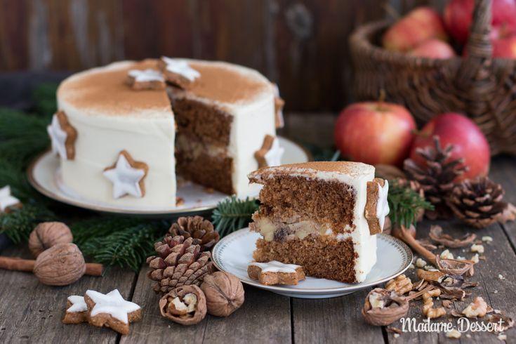 Weihnachten kann kommen! Mein Rezept für winterliche Bratapfeltorte im Zimtcreme-Mantel ist genau das Richtige für die Adventszeit 🎁🎄🎂