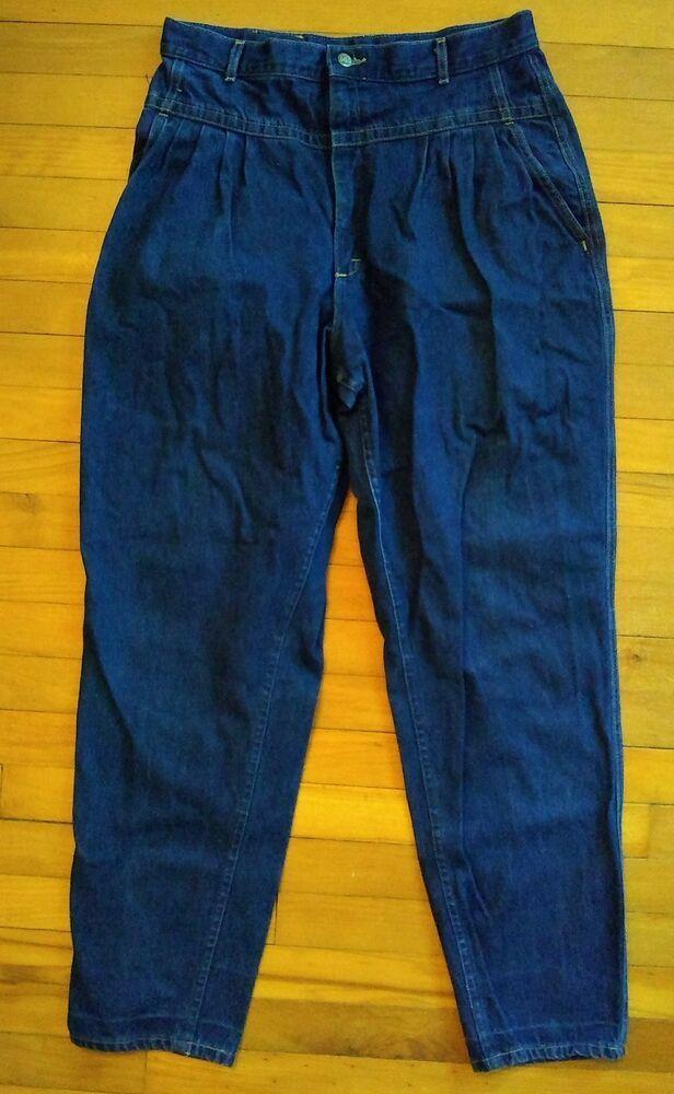 f3cddeed Vtg Lee Jeans Womens 18 Long Denim High Gathered Waist Union USA Mom  Tapered Leg #Lee #Mom